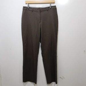 Chicos Size 0.5 Pants Solid Brown Size 4P Solid